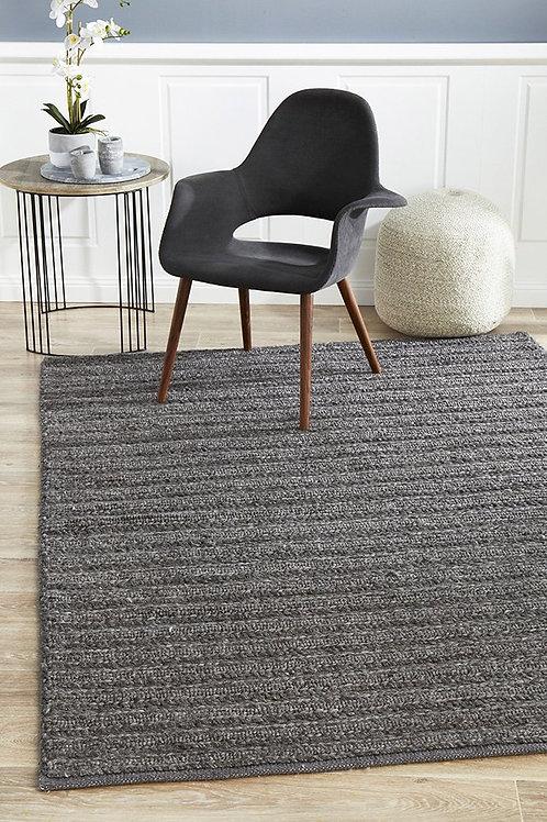Harvest Plush Floor Rug Colour Charcoal by Rug Culture