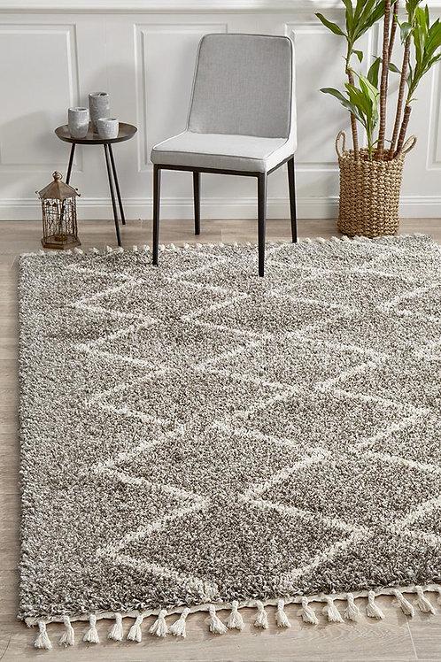 Saffron Plush Floor Rug Grey by Rug Culture