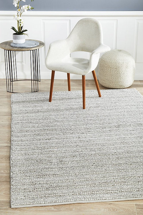Harvest Plush Floor Rug Colour Silver by Rug Culture