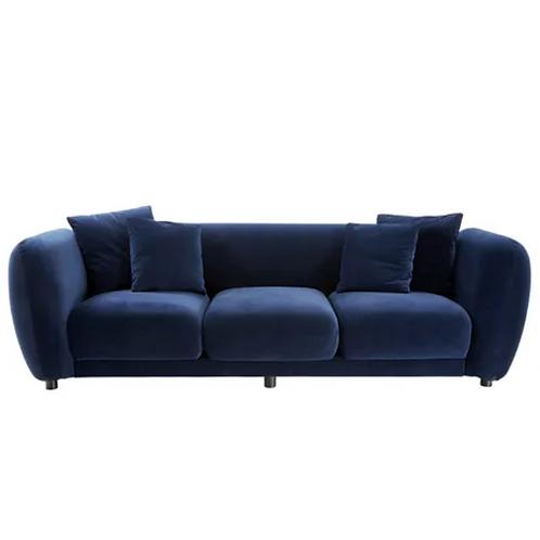 Palome Navy Velvet 3 Seater sofa