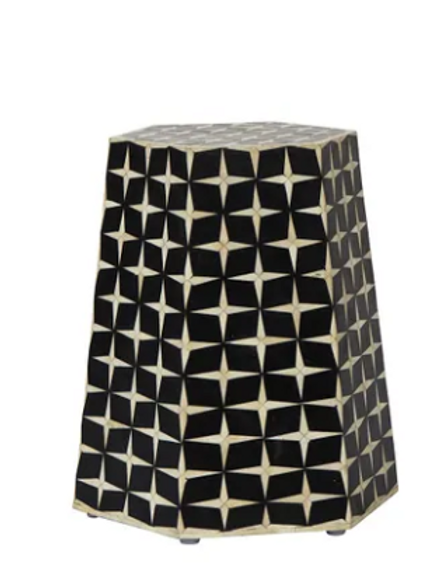 Kreve Black bedside with bone inlay