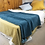 Thumbnail: Belle Stonewashed Cotton Velvet Comforter Bed Cover with Tassel Edge - Teal