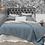 Thumbnail: Stonewashed Jardin Wash Blue 100% Cotton Coverlet Bedspread Set