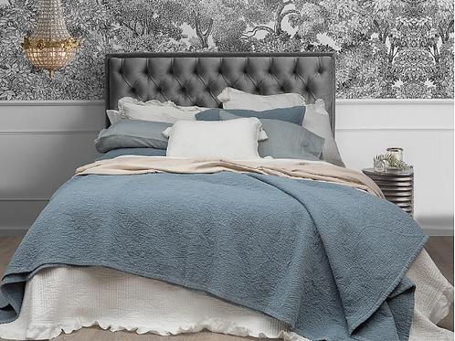 Stonewashed Jardin Wash Blue 100% Cotton Coverlet Bedspread Set