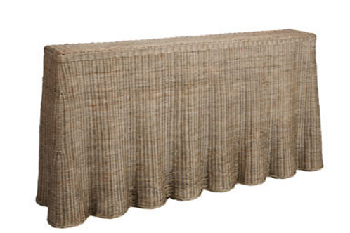 Willow rattan console table