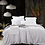 Thumbnail: Heavy Weight Pure French Linen Sheet Set Fitted Flat Sheet Set - White