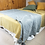 Thumbnail: Belle Stonewashed Cotton Velvet Comforter Bed Cover with Tassel Edge -Grey Green