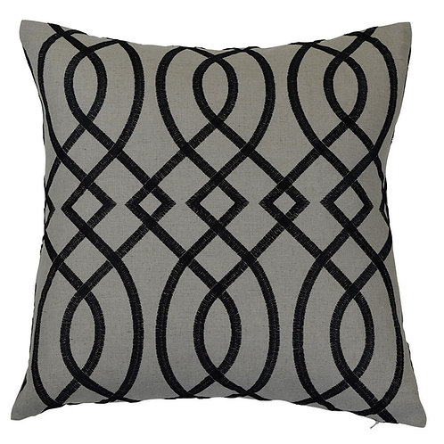 BIANCA BLACK CUSHION COVER
