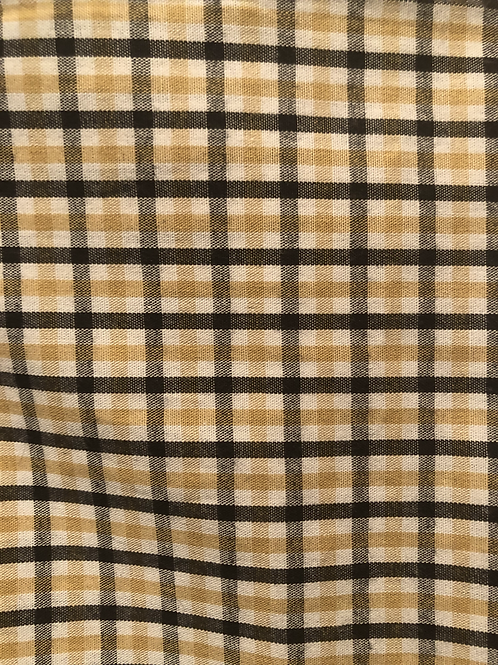 Black/Gold plaid