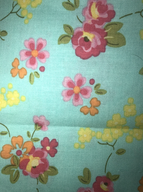 Floral on turquoise