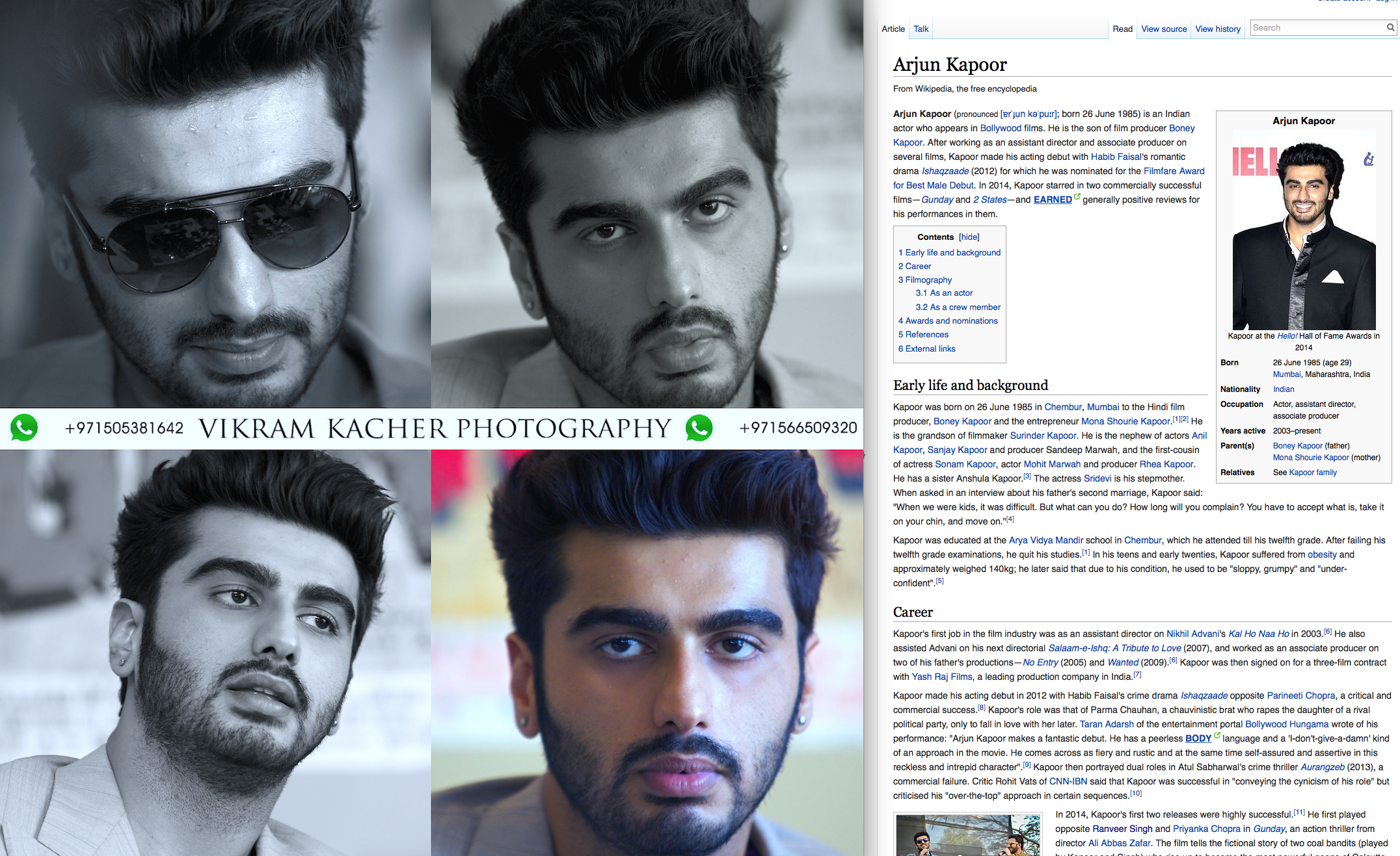 Arjun Kapoor - Work Spotted