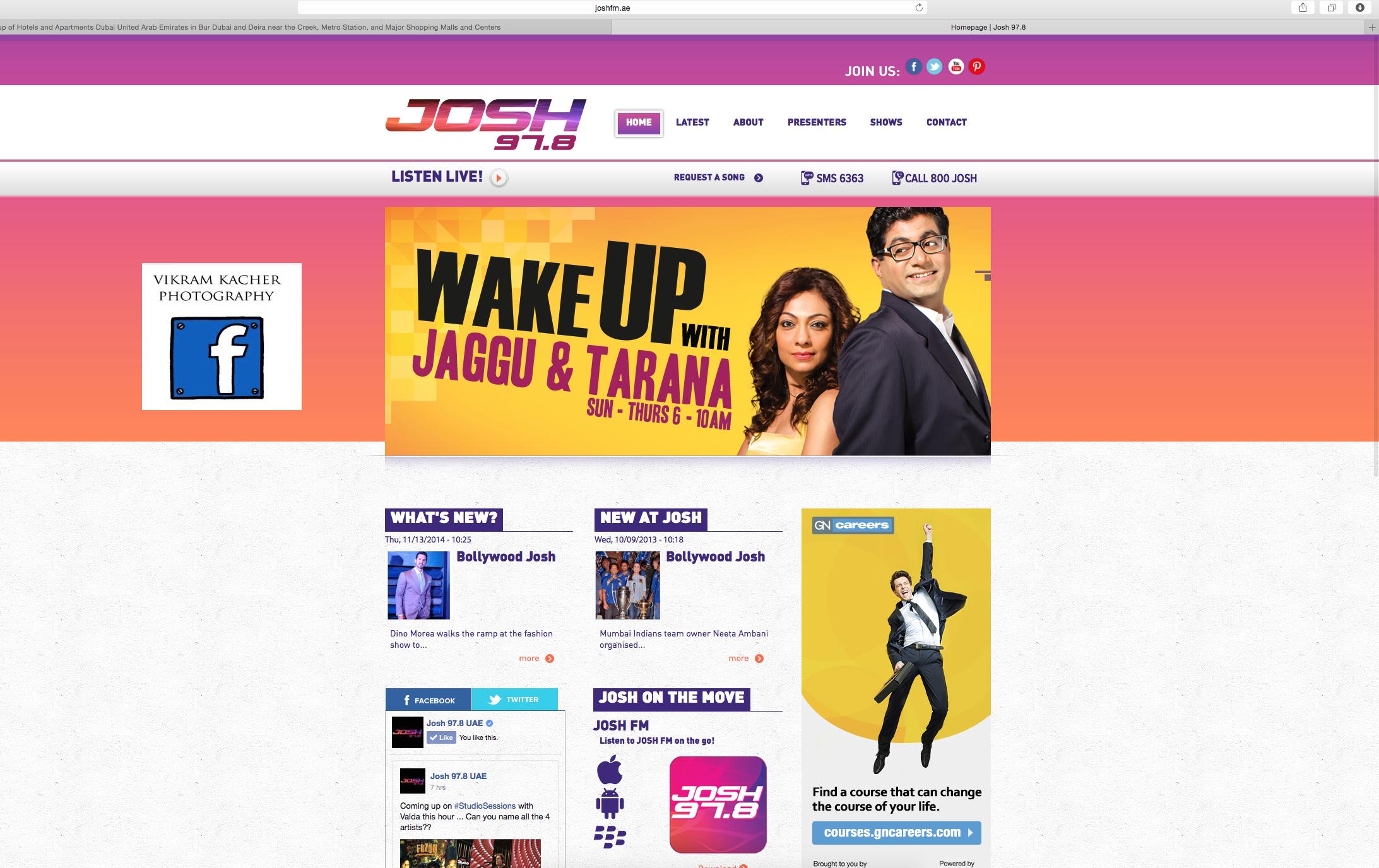 Josh 97.8 website