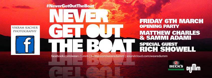 Never get out the boat