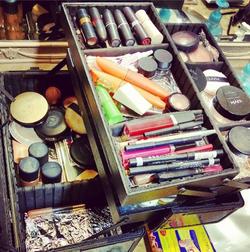 Make up at shoot