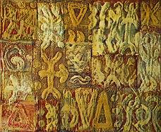 Ecriture pascuane 33x41 cm