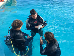 PADI Briefing your students