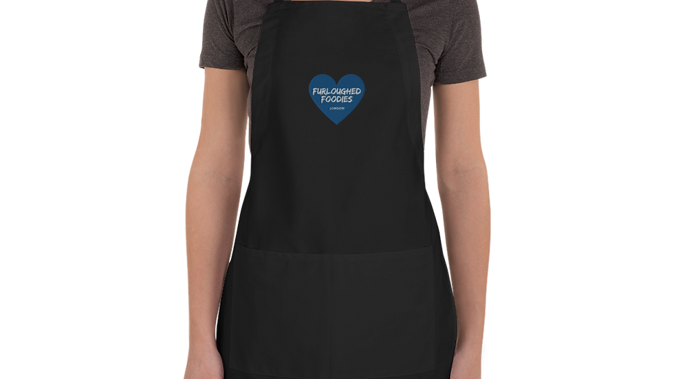 Furloughed Foodies Embroidered Apron (Black)