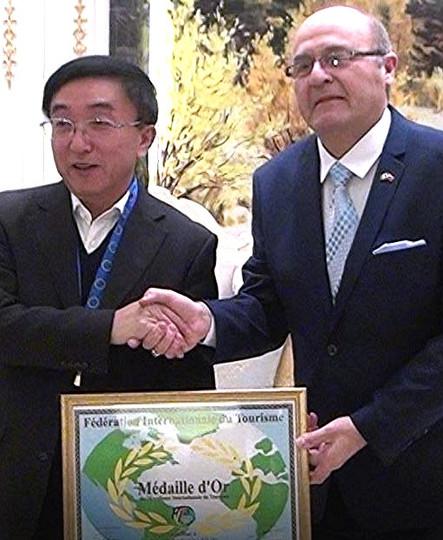 Medaille d'or 2016 vice Ministre du Tourisme