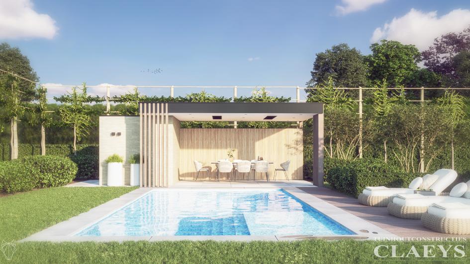 353 Claeys houtconstructies poolhouse De