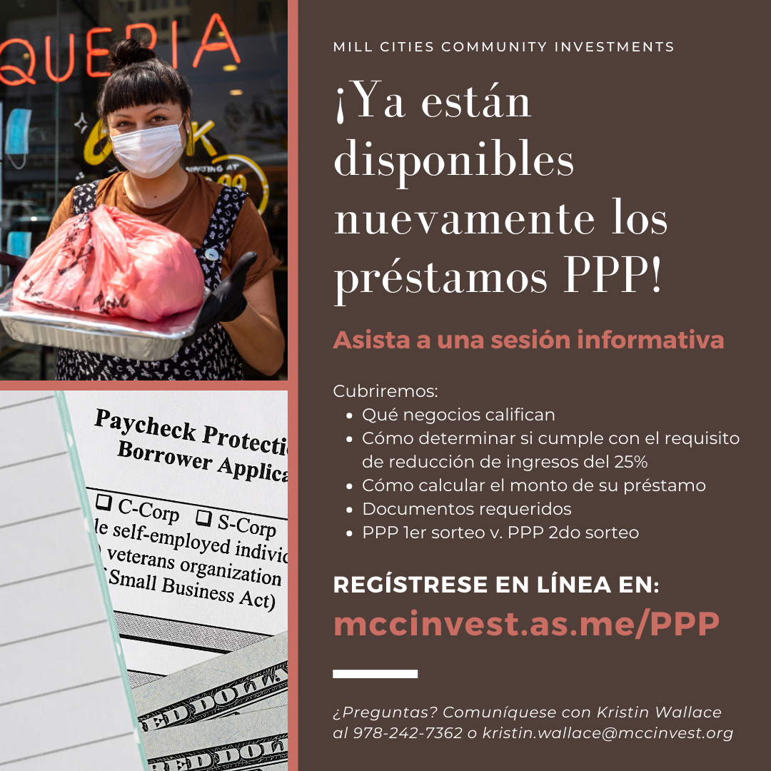 PPP Loan Info Sessions SPAN
