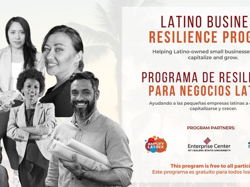 Amplify Latinx, Surfside Capital Advisors & The Enterprise Center Latino Business Resilience Prog.