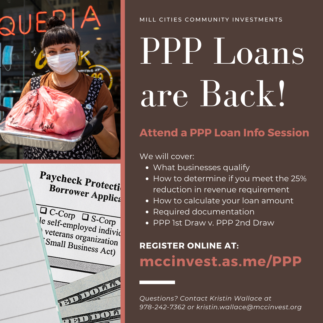 PPP Loan Info Sessions ENG