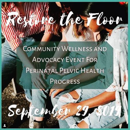 Join Me @ Restore the Floor!