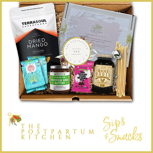 Sips + Snacks Nourishment Box