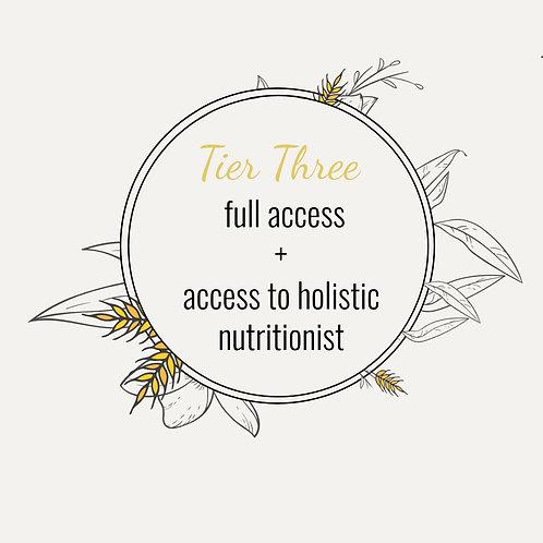 The Postpartum Kitchen: Tier Three- Full Enrollment PLUS