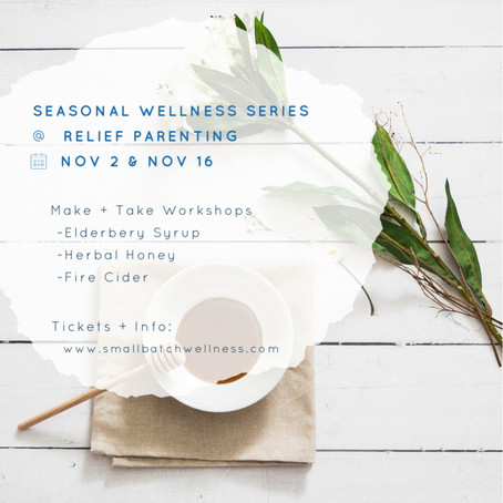 Don't miss this Seasonal Wellness Series!