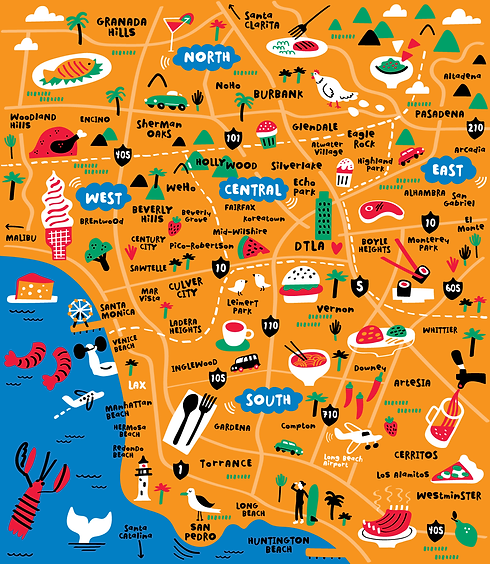 Illustrated-map-of-Los-Angeles-by-Nate-P