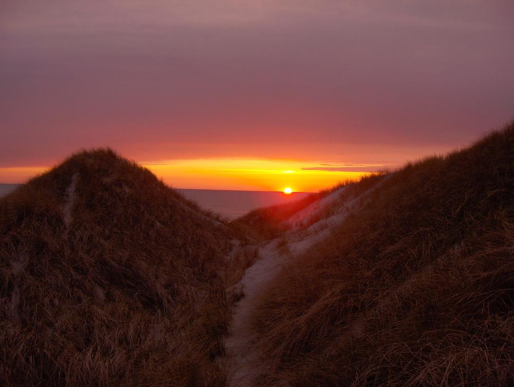 Solnedgang ved Saltum Strand