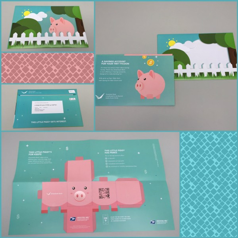 USPS Piggy Bank Mailer
