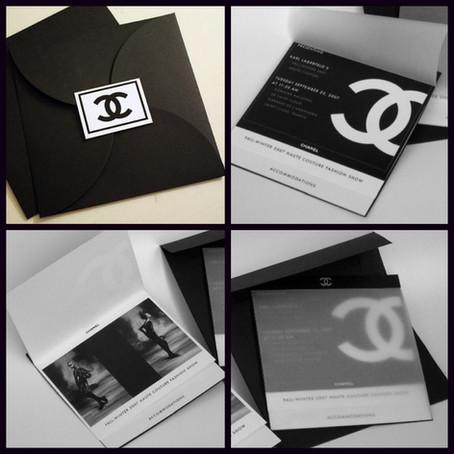 Chanel Show Invite