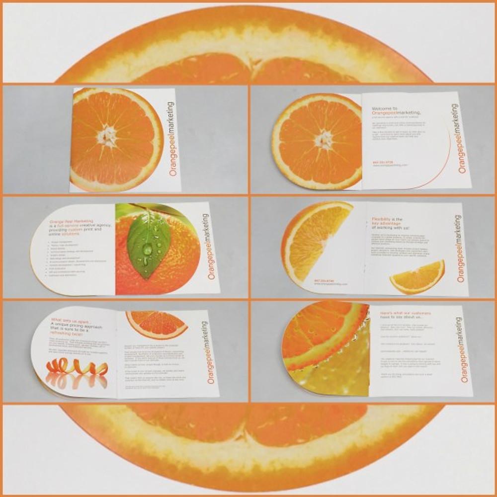 Orangepeel Die Cut Brochure