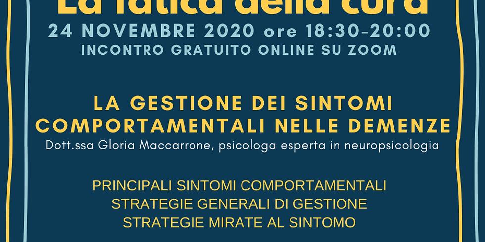 LA GESTIONE DEI SINTOMI COMPORTAMENTALI NELLE DEMENZE (1)