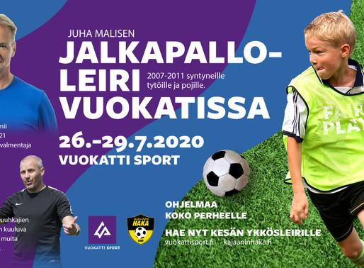 Juha Malisen jalkapalloleiri 26.-29.7.2020 Vuokatissa