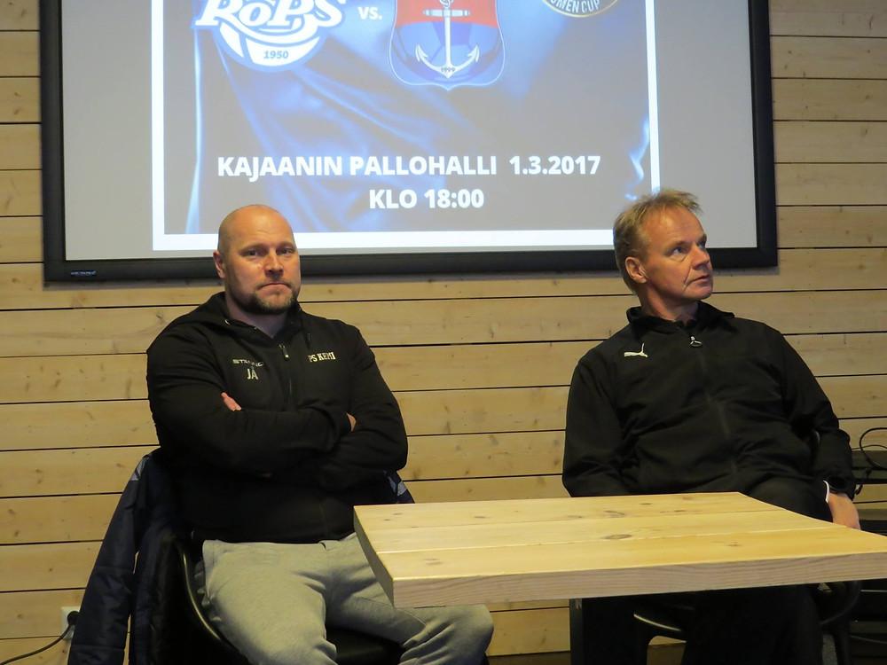 Päävalmentajat Jari Åhman  ja Juha Malinen.