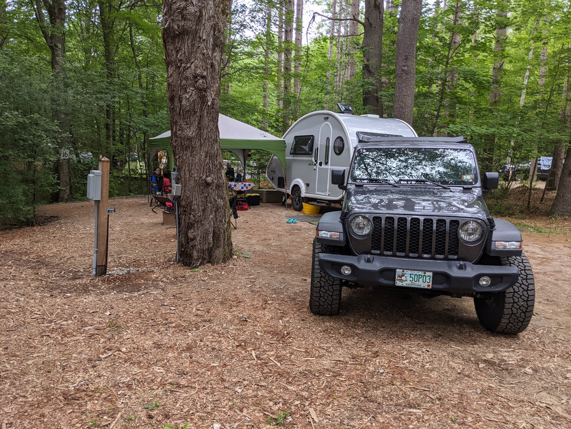 Bring your own tent or small RV!
