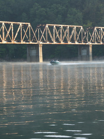 Boating on Fontana Lake