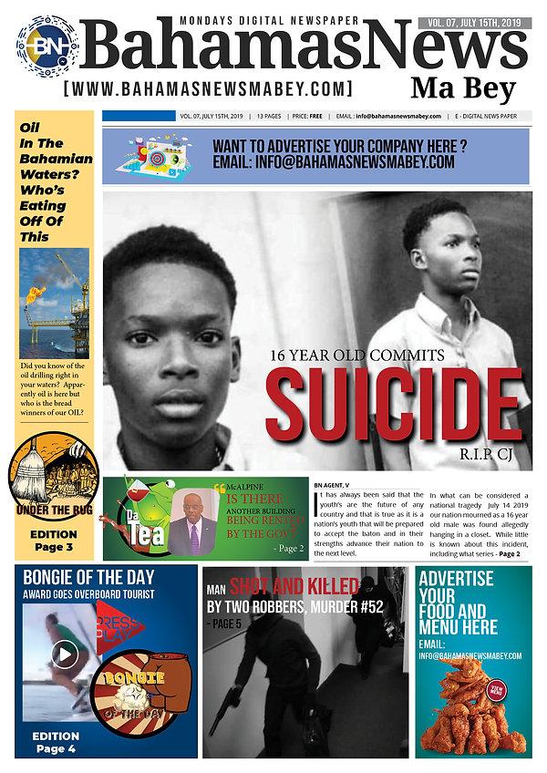 BN News Paper - July 15th 2019 - Vol 7 .