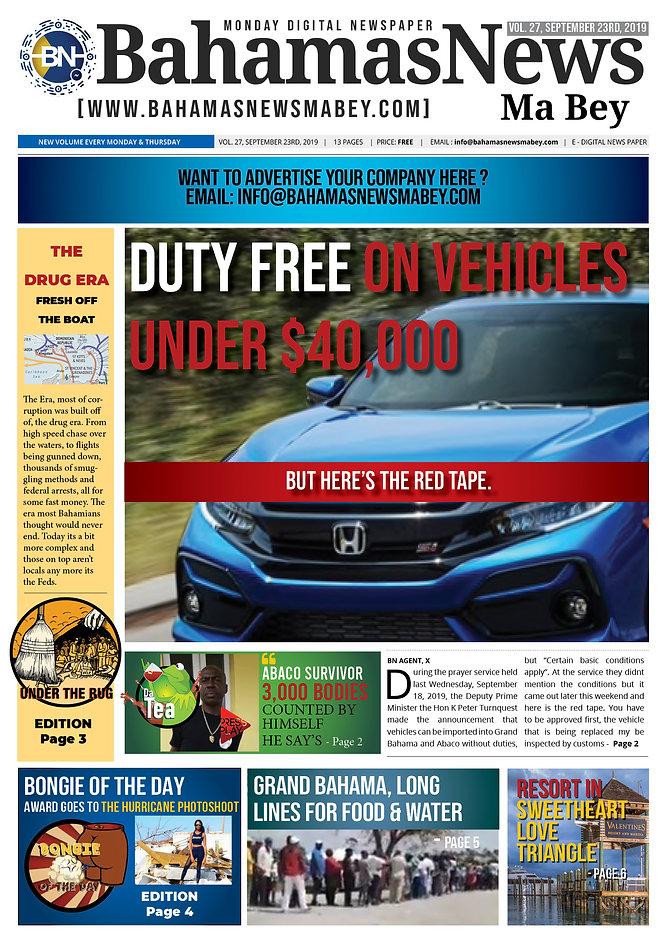 BN News Paper - September 23RD 2019 - Vo