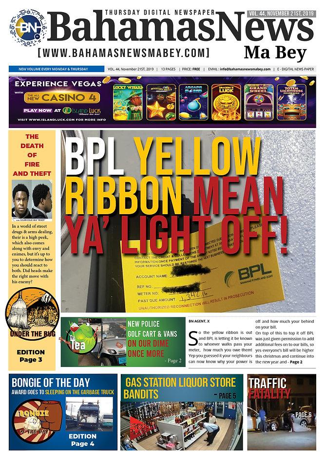 BN News Paper - November 21st 2019 - Vol