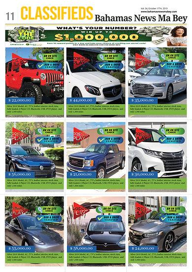 Vehicle Ad in Classifieds - BN Digital Newspaper