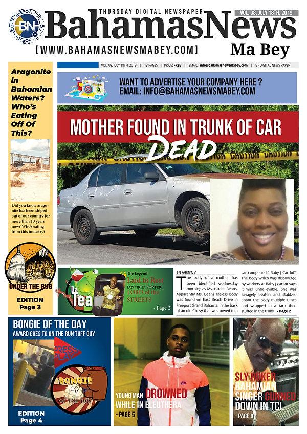 BN News Paper - July 18th 2019 - Vol 8 .