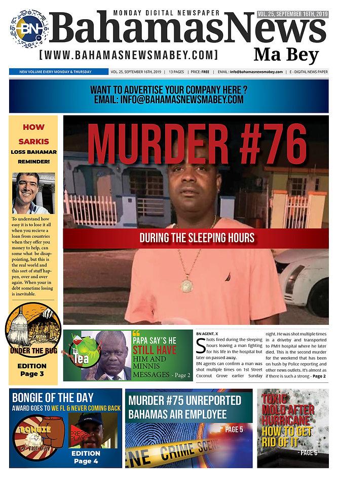 BN News Paper - September 16TH 2019 - Vo