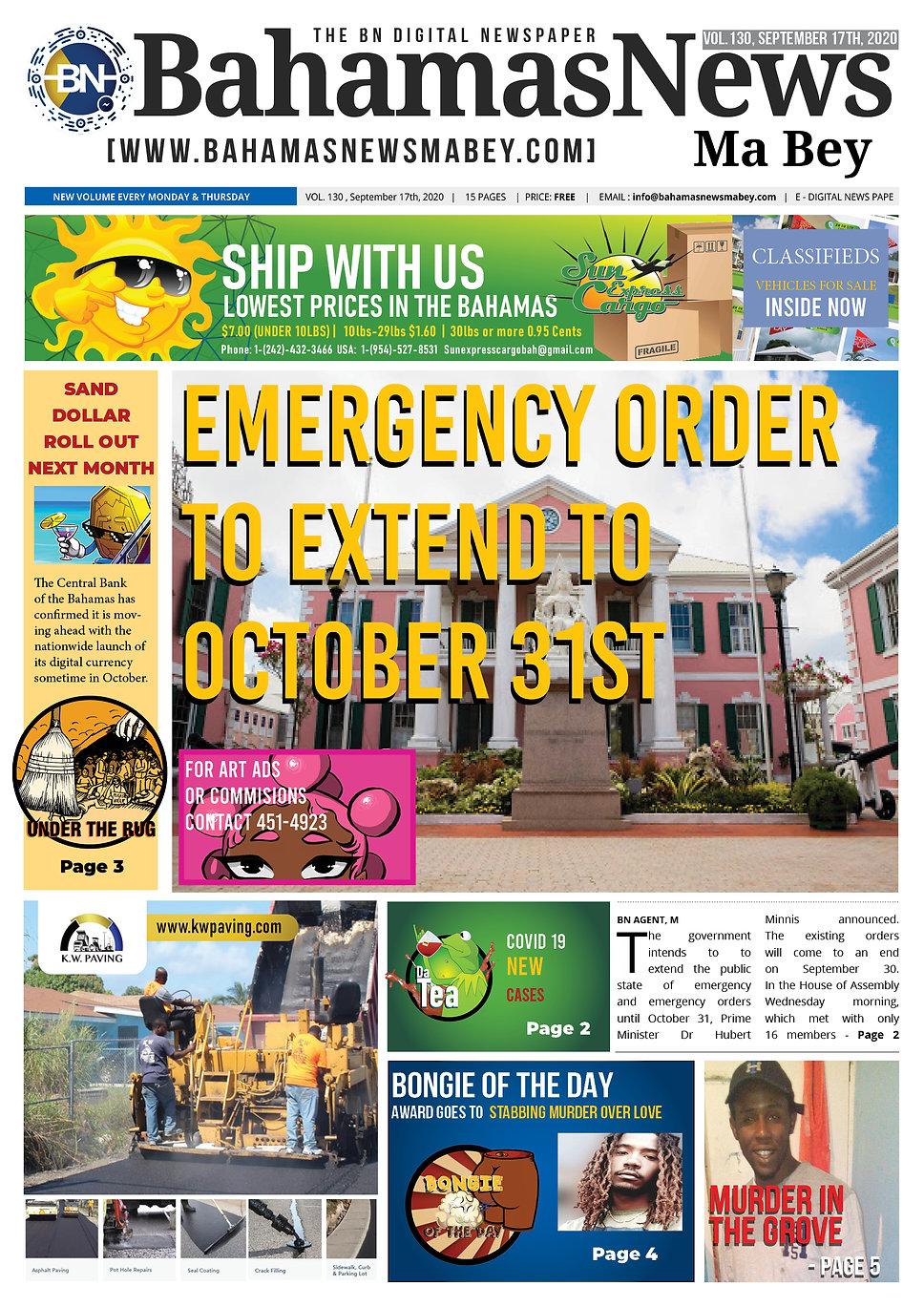 BN News Paper - September 17th 2020 - Vo