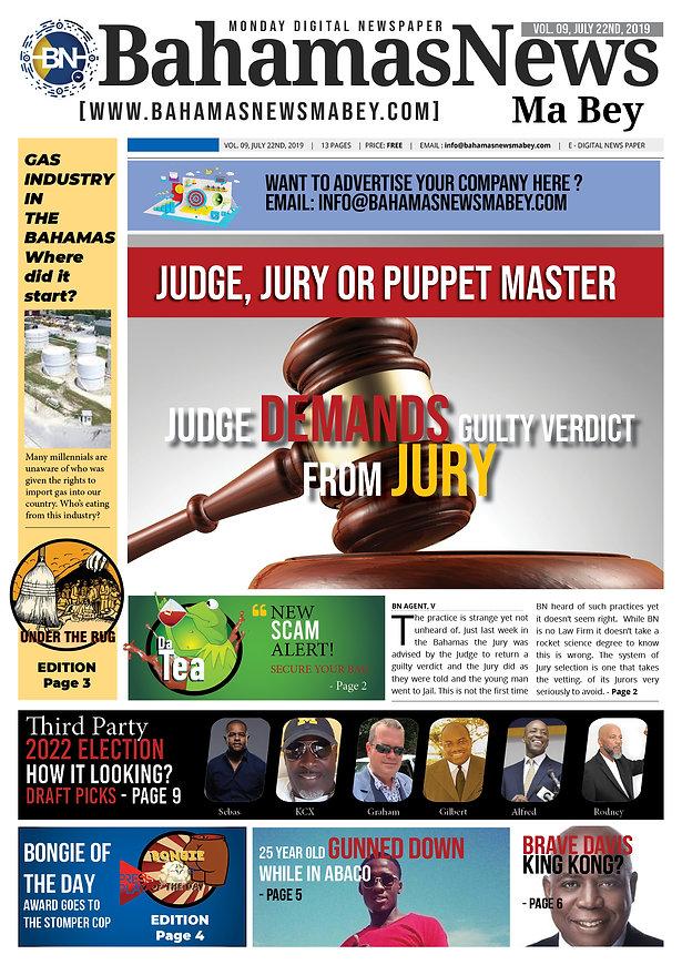 BN News Paper - July 22nd 2019 - Vol 9 .