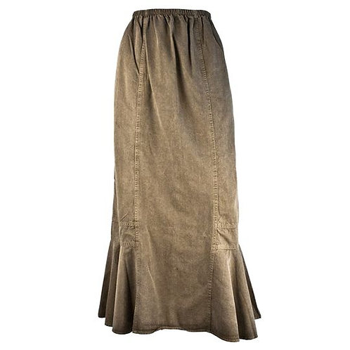 Khaki Tencel Skirt