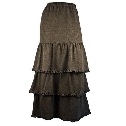 Stripe Tiered Skirt